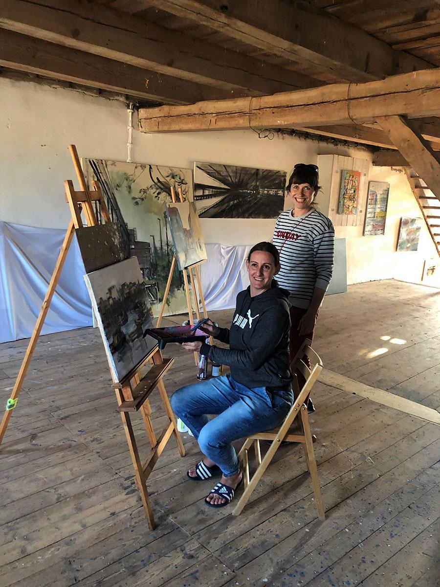 Offenes Atelier im Kunstspeicher bei Anja Brachmann!